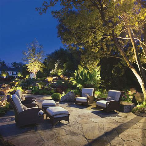 Kichler Landscape Lighting To The Garden Design Ward Log Backyard Landscape Lighting