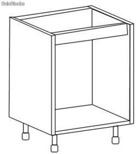 mueble bajo para horno de cocina en kit mueble bajo fregadero en kit blanco alto 70 x ancho 60 x