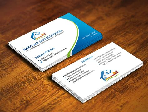 Free Air Conditioning Business Card Templates by Serious Modern Business Card Design Design For Nathan O