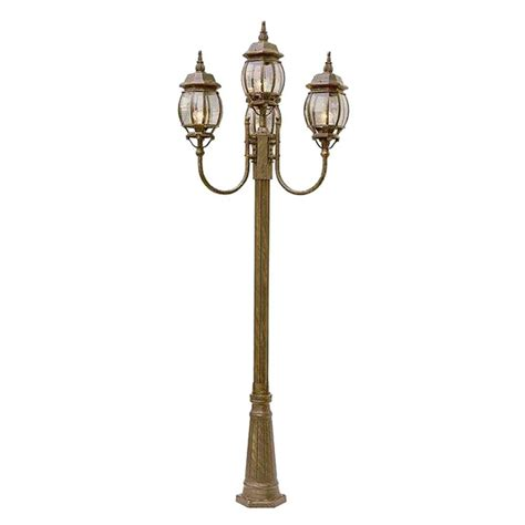 Outdoor Pole Lighting Bel Air Lighting Cabernet Collection 4 Light 96 In Outdoor Black Pole Lantern With Clear