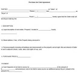 Sales And Purchase Agreement Template by Purchase And Sale Agreement Template