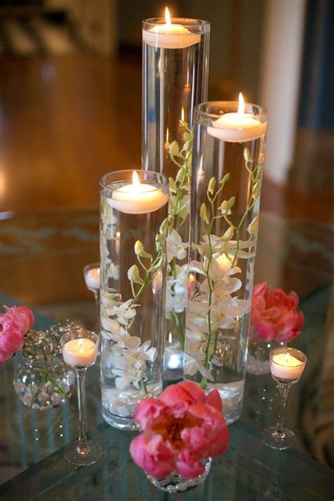 How To Make Flowers Float In Vases by Coming Out White Flower Floating Candle Vase Wedding