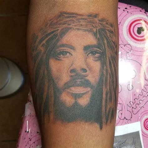 black jesus tattoos pin by lr tattoos on my portfolio tattoos