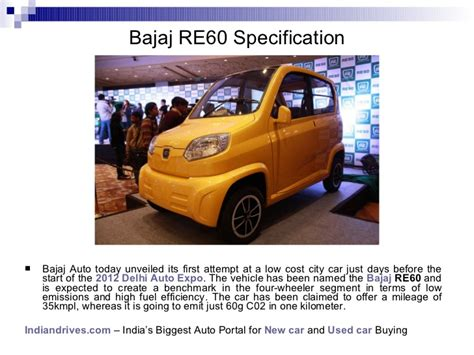 low budget car bajaj re60 low budget car unveiled