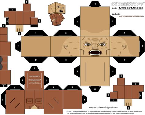 Pola Papercraft Mobil Up cubee weevil by cyberdrone on deviantart