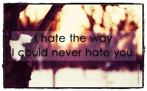 i could never hate you quotes i hate the way i could never hate you silver quotes