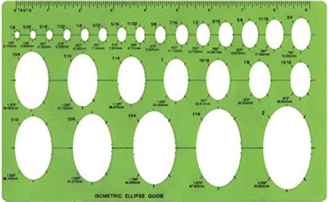 isometric ellipse template sewing supplies wholesale retail 99 cent us shipping