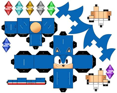 Sonic The Hedgehog Paper Crafts - cubeecraft sonic series cubeecrax