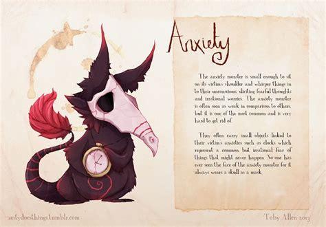 artist suffering  anxiety draws mental illnesses