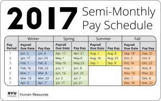 Isd Salary Schedule Semi Monthly Payroll Calendar 2017 My