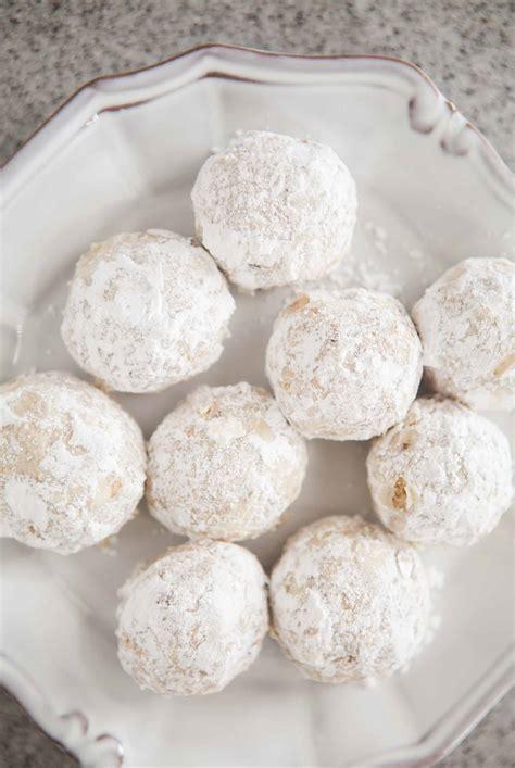 recipe powdered sugar walnut snowball cookies recipe simplyrecipes