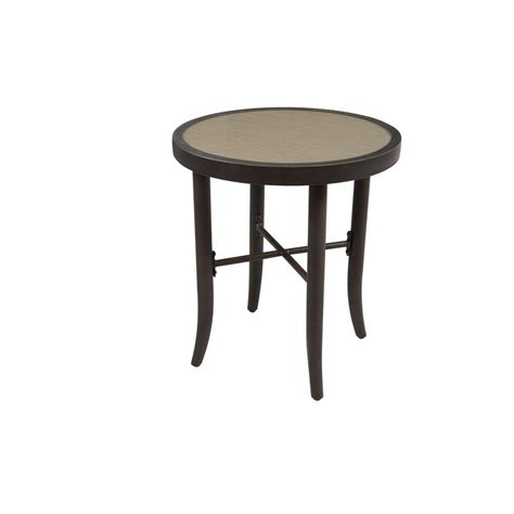 Hton Bay Aria Patio Side Table Fts80725 The Home Depot Patio Side Tables