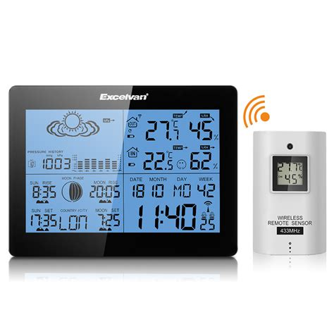 wireless weather station w precision forecast temperature