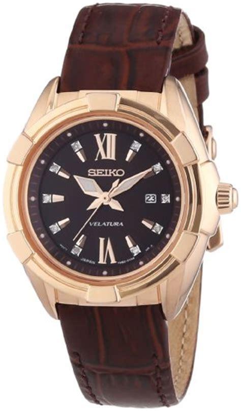 Seiko Velatura Rosegold Combi White Brown Leather nixon s a0991519 kensington b00eo8ly04