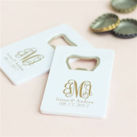 Wedding Favors Bottle Openers by Best 25 Credit Card Bottle Opener Ideas On