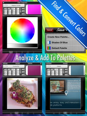 color companion create your own color palettes from snippets of a photo or design work app saga