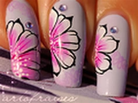 russian nail art tutorial nail art one stroke style russe youtube