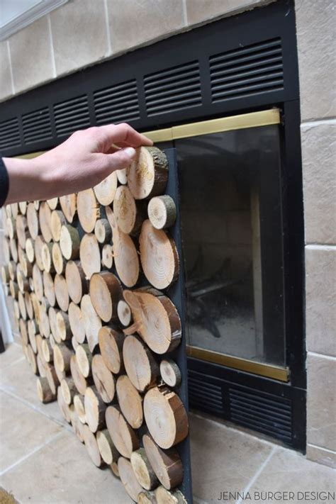 Stacked Logs In Fireplace by Diy Tutorial On How To Make A Faux Stacked Log Fireplace