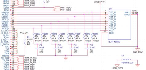 layout guidelines for gigabit ethernet ethernet schematic critique phy interface with rj45