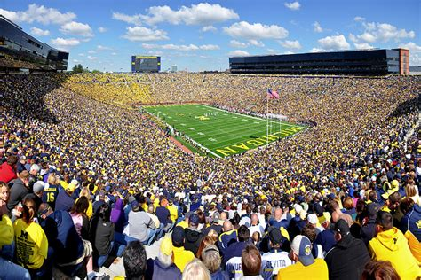 Big House Student Section by Michigan Wolverines Football Wallpaper Big Ten Football