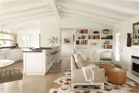 Kitchen Next To Living Room by White Painted Fireplace Mantel Living Room Style