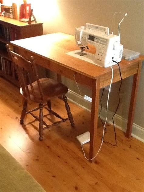 how to build a drop in sewing table sewing machine table by czlee lumberjocks com