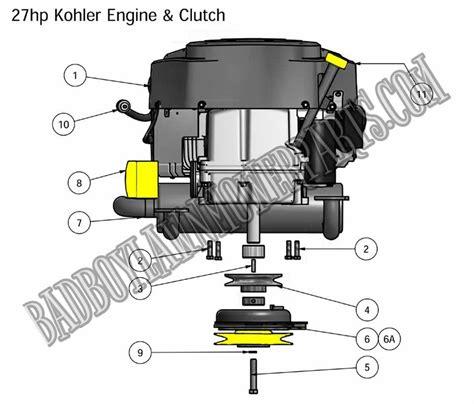 Bad Boy Mower Part 2011 Zt Engine 27hp Kohler Assembly