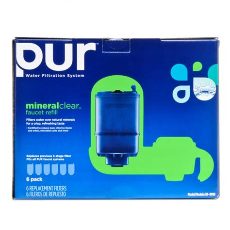 Pur Faucet Mount Filter Pur Rf 9999 6 3 Stage Mineral Clear Faucet Filter
