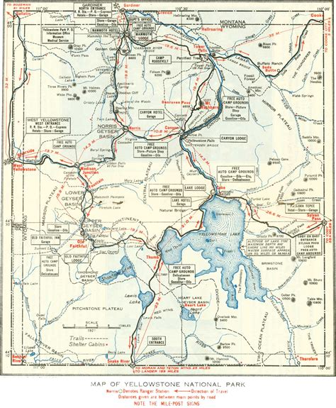 map usa yellowstone park map of yellowstone national park maps