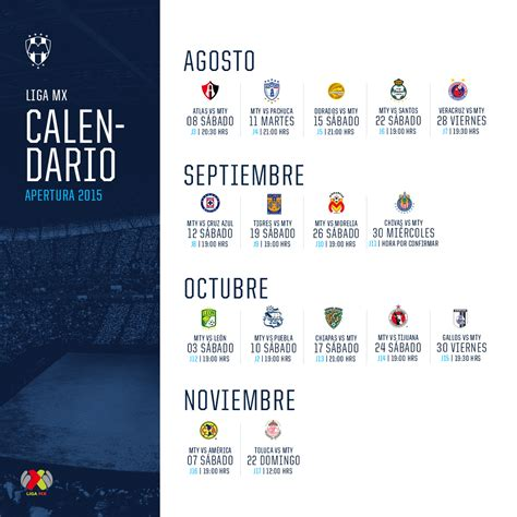 Calendario De Rayados Rayados Oficial On Quot 161 Separa Las Fechas