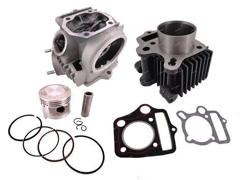honda crf50 light kit 50cc rebuild 70cc cylinder head piston gasket kit for