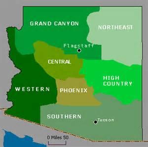 arizona regions map wildernet arizona regions