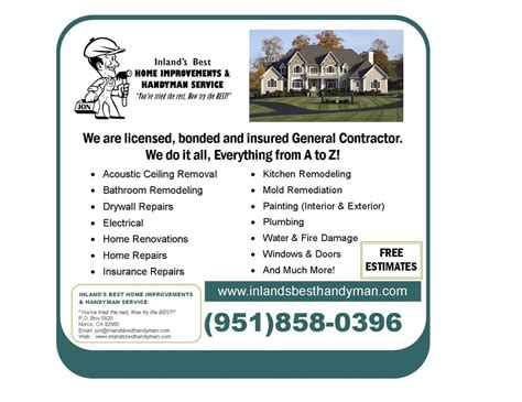 inland s best home improvements handyman service