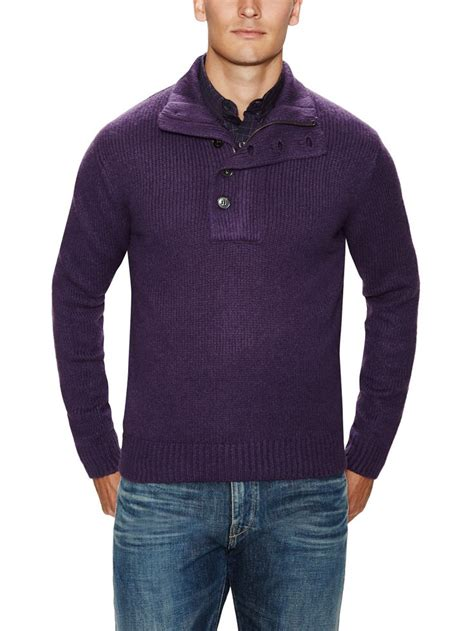 Turtle Neck Two Zipper half zip and button turtleneck sweater fashion