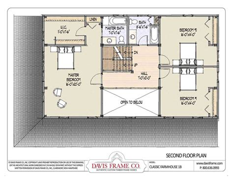 Classic Farmhouse Floor Plans | barn house plans classic farmhouse floor plans 1b