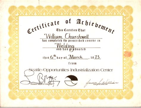 welding certificate template billy joe churchwell