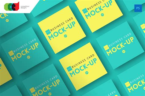 square business cards mockup free best business cards