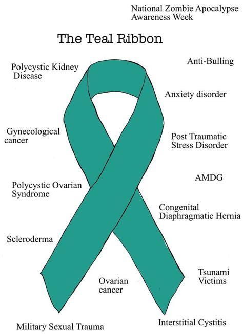 ptsd awareness ribbon color teal awareness ribbon www imgkid the image