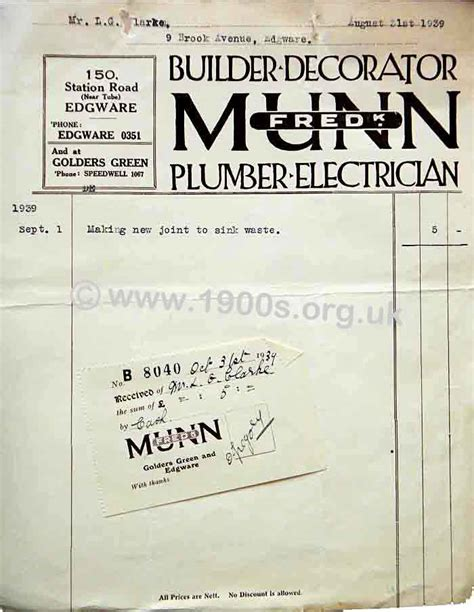 Plumbing Price Work by Costs Of Plumbing Work In 1940