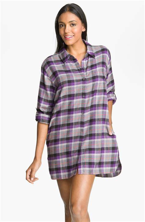 flannel nightshirt pattern dkny pattern play flannel night shirt in purple star