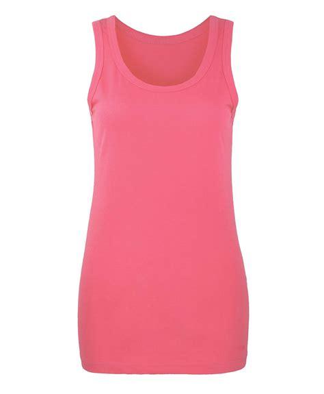 Vest Top by Regular Fit Plain Vest Top Womens Basic Cotton T