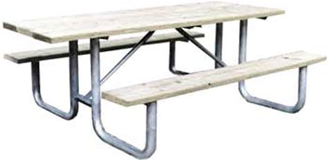 8 heavy duty commercial outdoor park picnic table frame