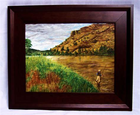 in framed framed troutpainter