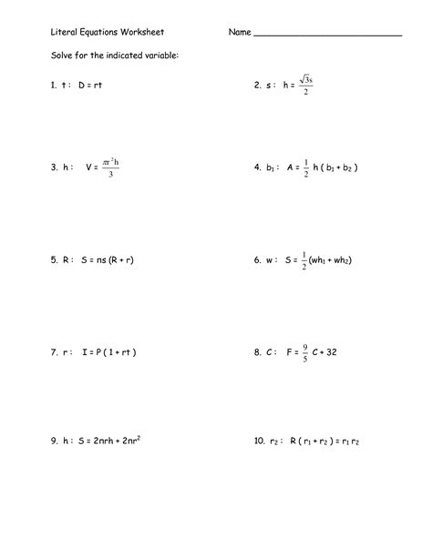 Linear Equation Worksheet by Solving Linear Equations Worksheet 1 Answers Solving