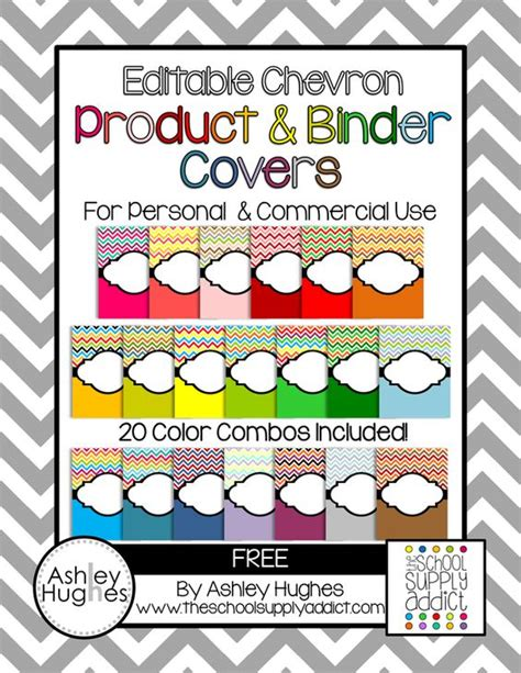 free printable binder covers editable free editable chevron product binder covers