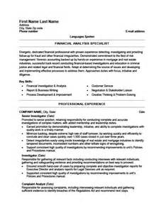 Fraud Analyst Sle Resume by Fraud Detection Investigator Resume Template Premium Resume Sles Exle