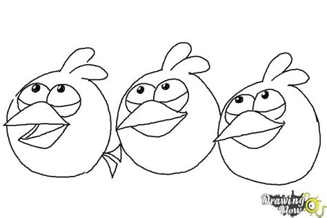 how to draw angry birds the blues blue birds drawingnow