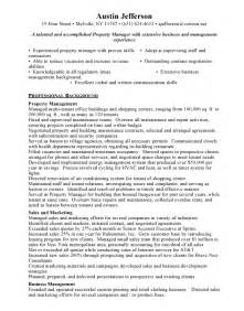 manager resume sle assistant property management resume sales assistant