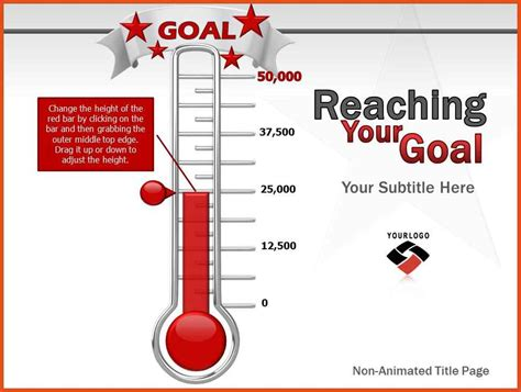 Goal Thermometer Template Moa Format Free Fundraising Thermometer Template