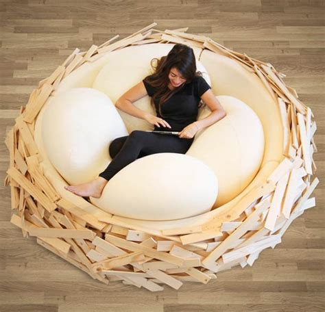 giant couch bed bird s nest a giant nest as a sofa bed ufunk net